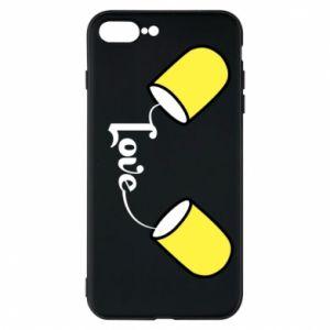 Etui na iPhone 7 Plus Napis - Love