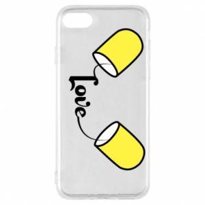 Etui na iPhone 8 Napis - Love