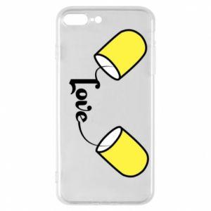 Etui na iPhone 8 Plus Napis - Love