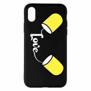 Etui na iPhone X/Xs Napis - Love