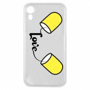 Etui na iPhone XR Napis - Love