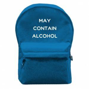 Plecak z przednią kieszenią Napis: May contain alcohol