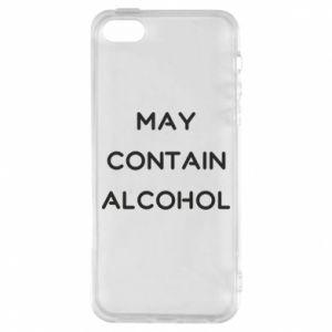 Etui na iPhone 5/5S/SE Napis: May contain alcohol