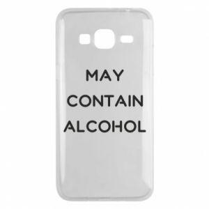 Etui na Samsung J3 2016 Napis: May contain alcohol