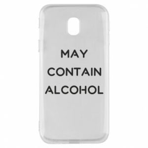 Etui na Samsung J3 2017 Napis: May contain alcohol