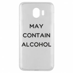 Etui na Samsung J4 Napis: May contain alcohol