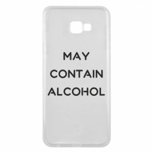 Etui na Samsung J4 Plus 2018 Napis: May contain alcohol