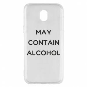 Etui na Samsung J5 2017 Napis: May contain alcohol
