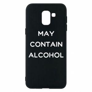 Etui na Samsung J6 Napis: May contain alcohol