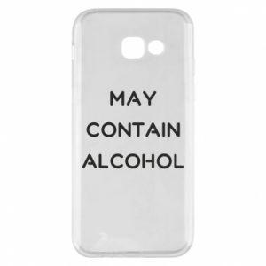 Etui na Samsung A5 2017 Napis: May contain alcohol