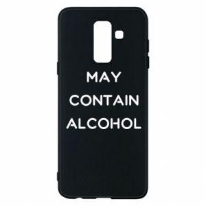 Etui na Samsung A6+ 2018 Napis: May contain alcohol