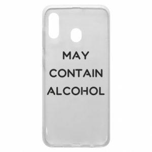 Etui na Samsung A20 Napis: May contain alcohol