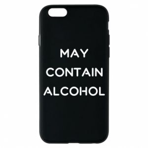 Etui na iPhone 6/6S Napis: May contain alcohol