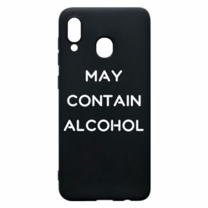 Etui na Samsung A30 Napis: May contain alcohol