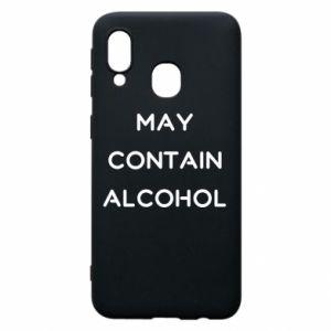 Etui na Samsung A40 Napis: May contain alcohol