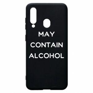 Etui na Samsung A60 Napis: May contain alcohol