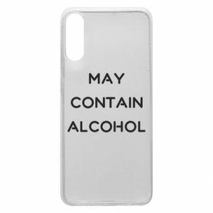 Etui na Samsung A70 Napis: May contain alcohol