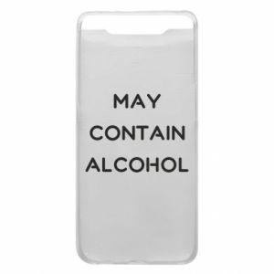 Etui na Samsung A80 Napis: May contain alcohol