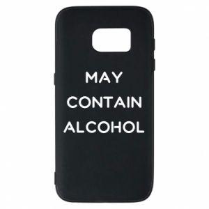 Etui na Samsung S7 Napis: May contain alcohol