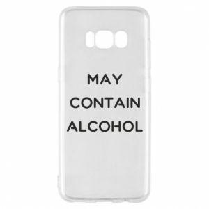 Etui na Samsung S8 Napis: May contain alcohol