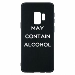 Etui na Samsung S9 Napis: May contain alcohol