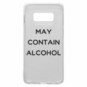 Etui na Samsung S10e Napis: May contain alcohol