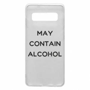 Etui na Samsung S10 Napis: May contain alcohol