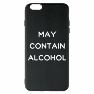 Etui na iPhone 6 Plus/6S Plus Napis: May contain alcohol