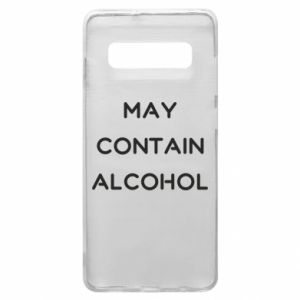 Etui na Samsung S10+ Napis: May contain alcohol