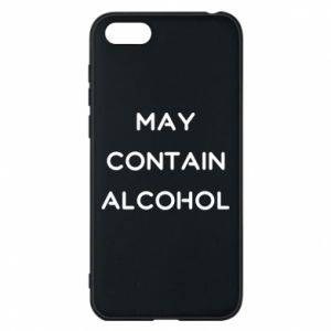 Etui na Huawei Y5 2018 Napis: May contain alcohol