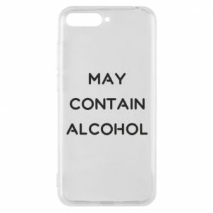 Etui na Huawei Y6 2018 Napis: May contain alcohol