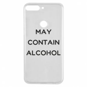 Etui na Huawei Y7 Prime 2018 Napis: May contain alcohol