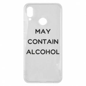 Etui na Huawei P Smart Plus Napis: May contain alcohol