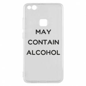 Etui na Huawei P10 Lite Napis: May contain alcohol