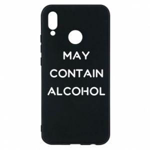 Etui na Huawei P20 Lite Napis: May contain alcohol