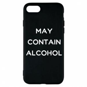 Etui na iPhone 7 Napis: May contain alcohol