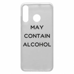 Etui na Huawei P30 Lite Napis: May contain alcohol