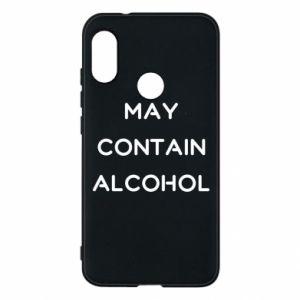 Etui na Mi A2 Lite Napis: May contain alcohol