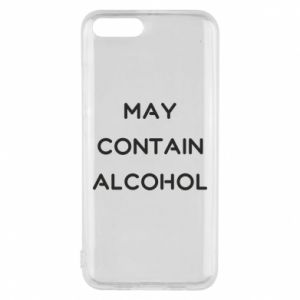 Etui na Xiaomi Mi6 Napis: May contain alcohol