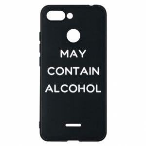 Etui na Xiaomi Redmi 6 Napis: May contain alcohol