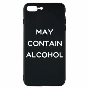 Etui na iPhone 7 Plus Napis: May contain alcohol