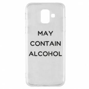Etui na Samsung A6 2018 Napis: May contain alcohol
