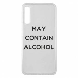 Etui na Samsung A7 2018 Napis: May contain alcohol