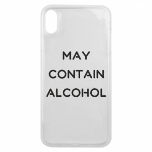 Etui na iPhone Xs Max Napis: May contain alcohol