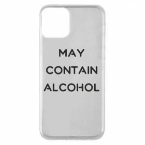 Etui na iPhone 11 Napis: May contain alcohol