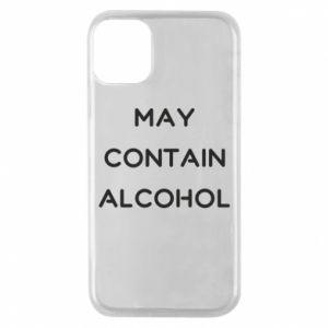 Etui na iPhone 11 Pro Napis: May contain alcohol