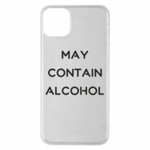 Etui na iPhone 11 Pro Max Napis: May contain alcohol