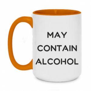 Kubek dwukolorowy 450ml Napis: May contain alcohol