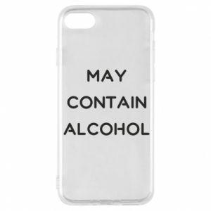 Etui na iPhone 8 Napis: May contain alcohol