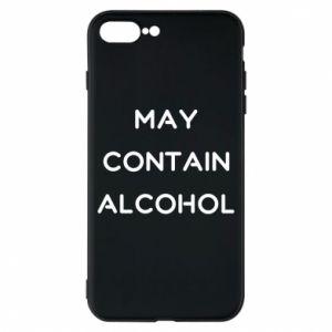 Etui na iPhone 8 Plus Napis: May contain alcohol